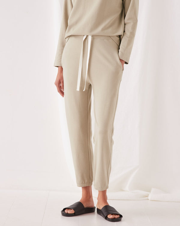 Kin Fleece Trackpant - Washed Khaki