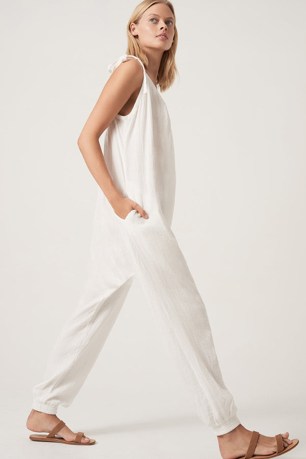 SHOP - Honour Apparel Tie Me Jumpsuit - White