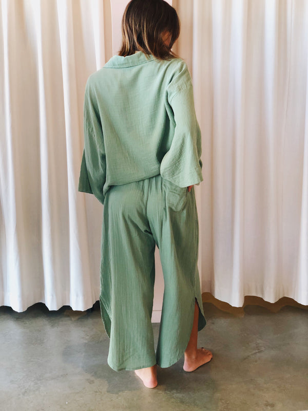 SHOP - LOCAL LUXE SWIM - zelta pant - matcha