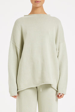Relax Knit Jumper - Cool Sage