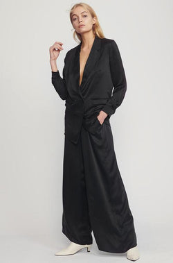 SHOP - Silk Laundry - Relaxed Silk Blazer - Black