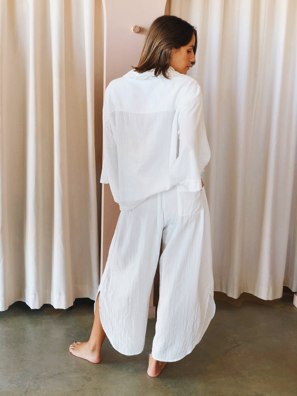SHOP - LOCAL LUXE SWIM - zelta pant - white