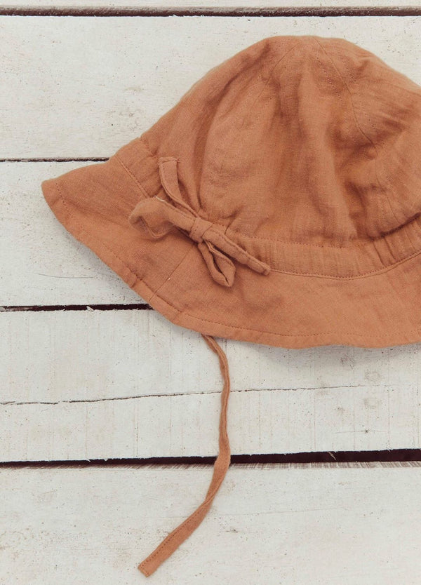 sun hat - terracotta rose