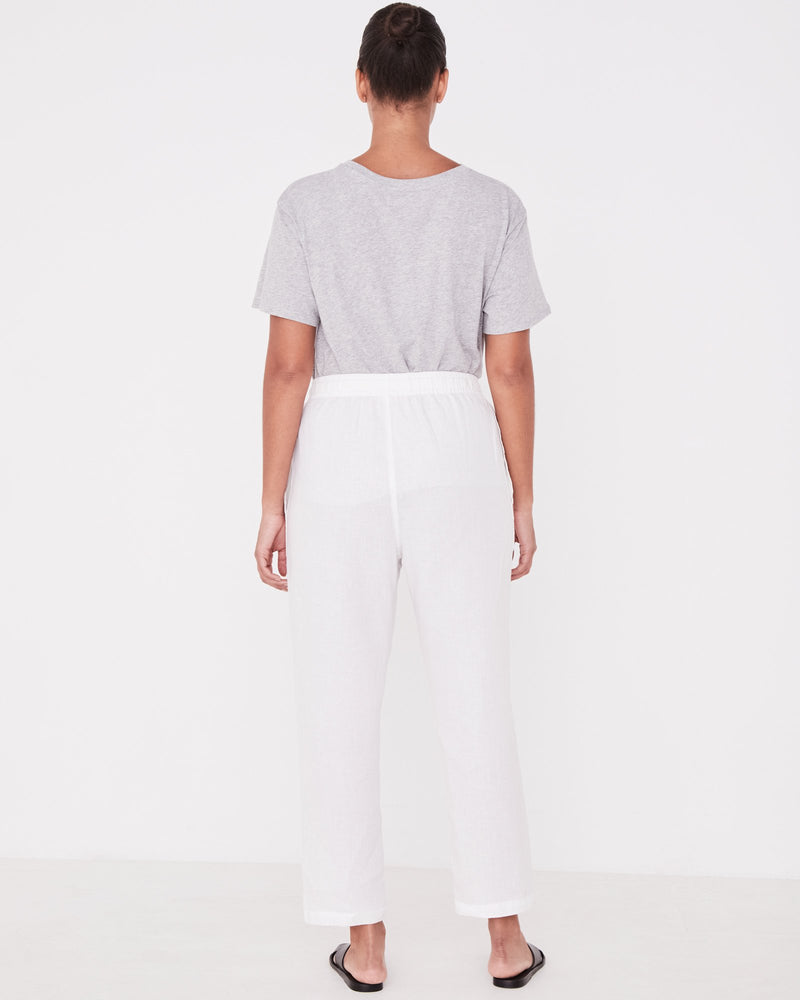 SHOP - ASSEMBLY LABEL - anya linen pant - white