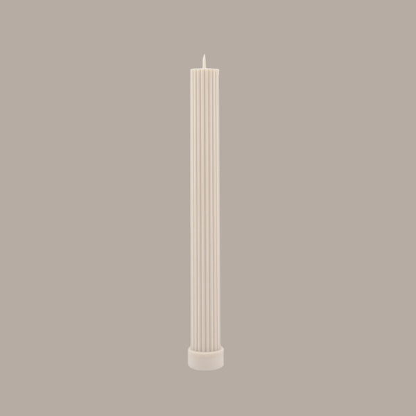 SHOP NOW - BLACK BLAZE - pillar candle - white
