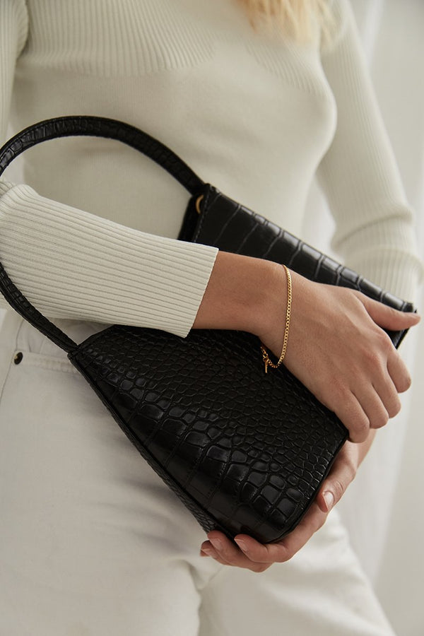 SHOP - BRIE LEON - chloe bag - black matte croc