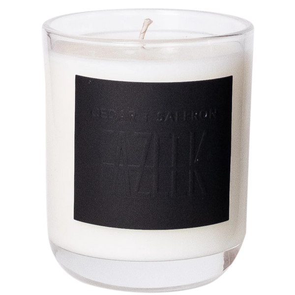 SHOP - Fazeek - Glass Candle - Cedar + Saffron