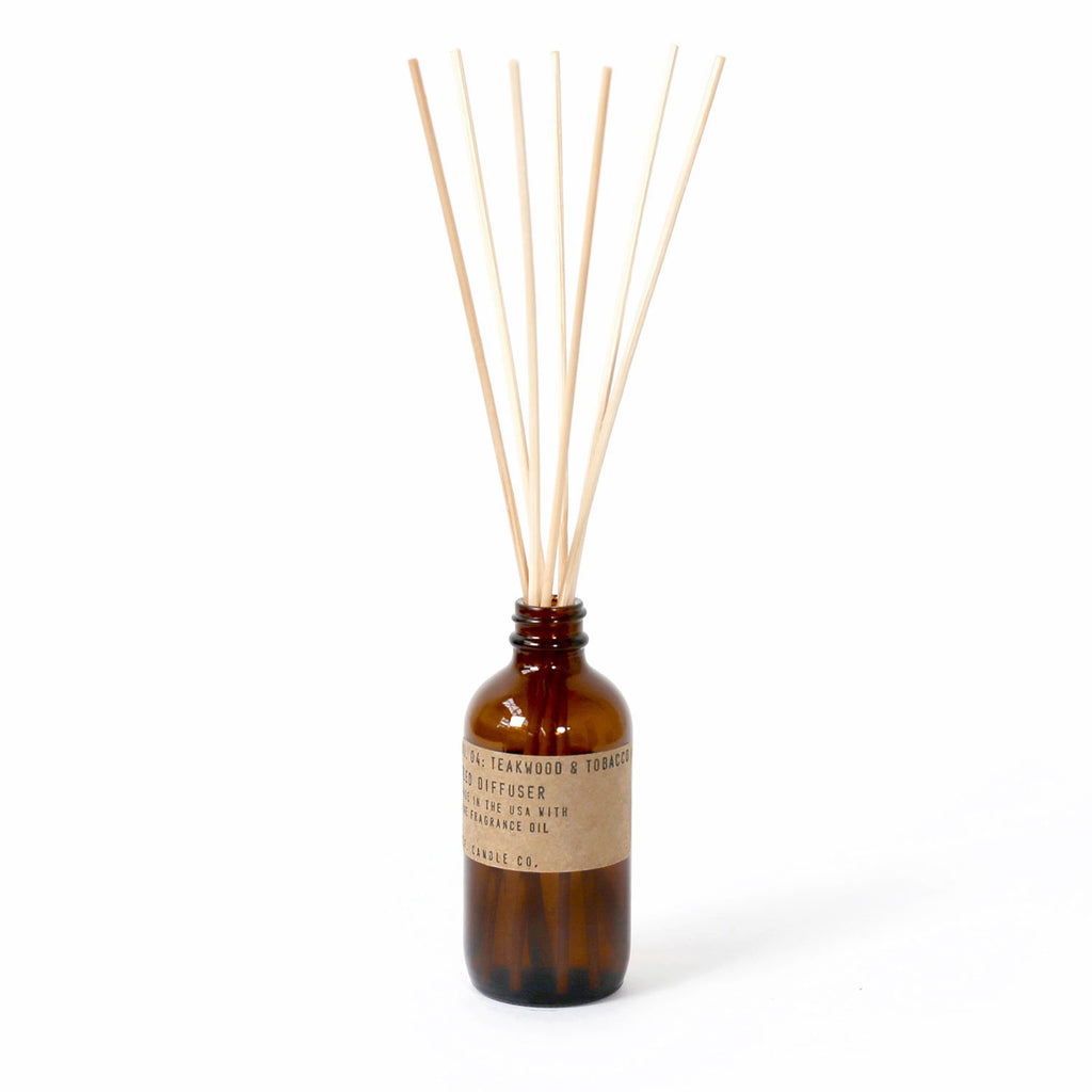 p.f candle co - teakwood & tobacco reed diffuser