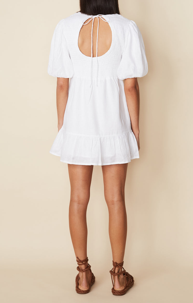 lorica dress - plain white