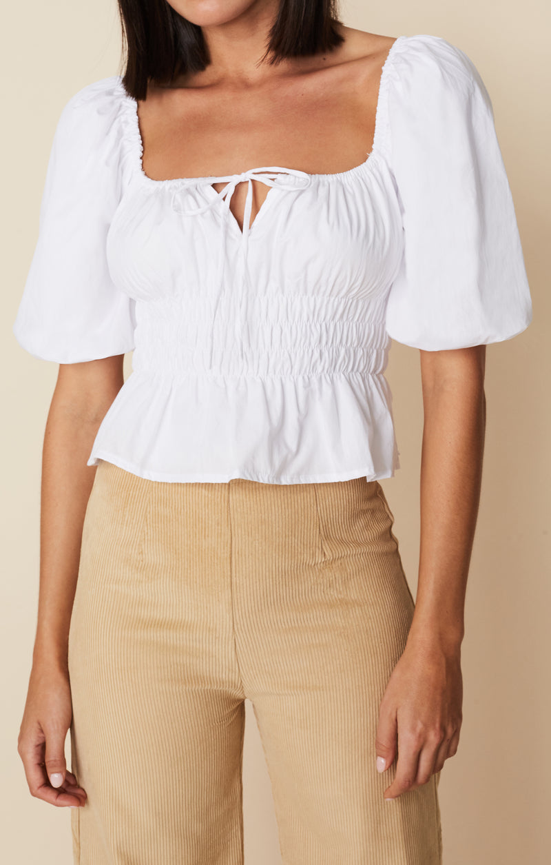 SHOP - FAITHFULL - venetia top - plain white