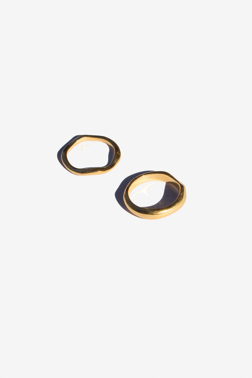 flash - waves ring set - gold