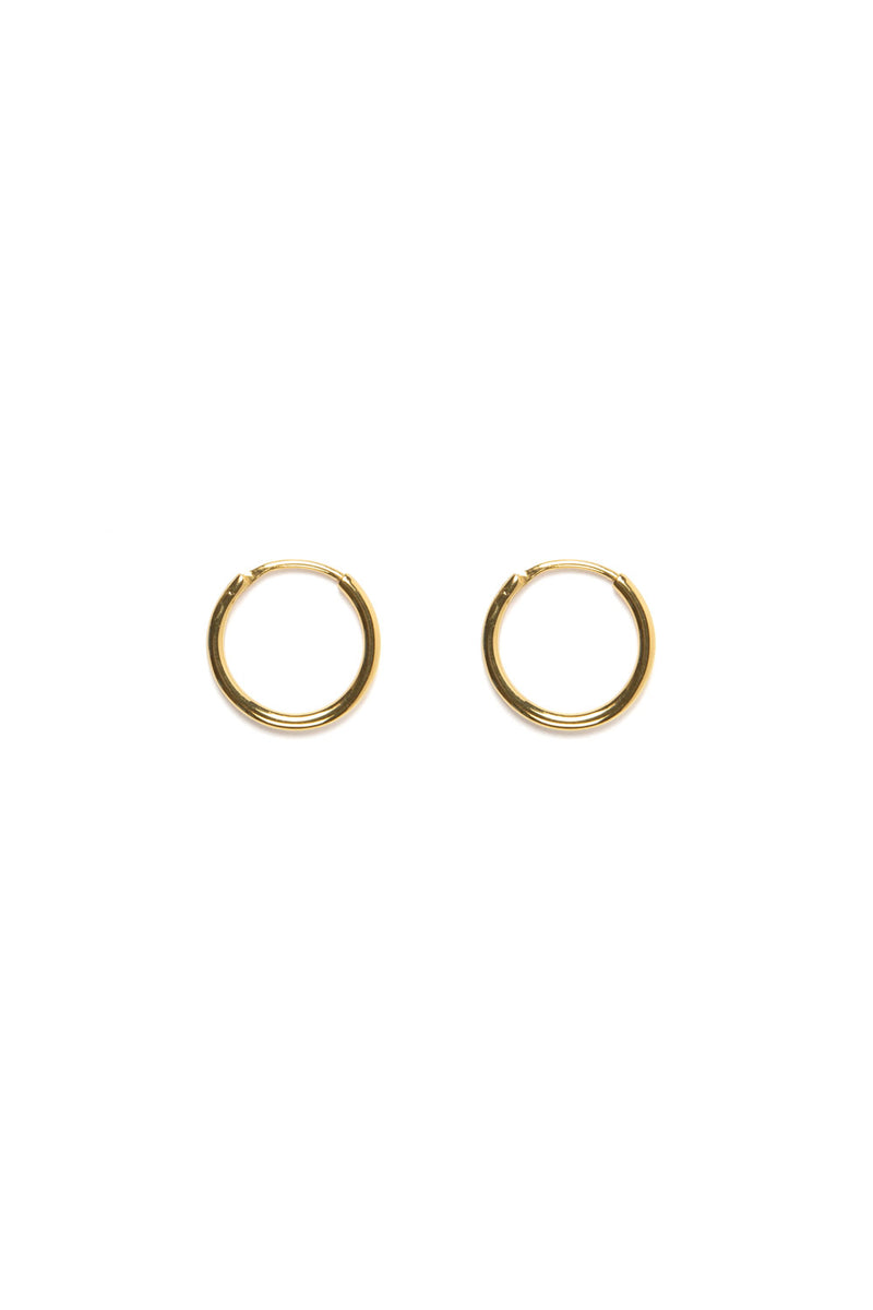 SHOP - FLASH - mondo mini hoops - 14k vermeil