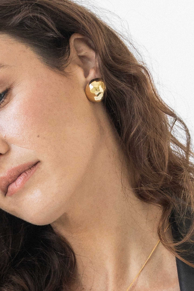 placebo dome earrings - 14k vermeil