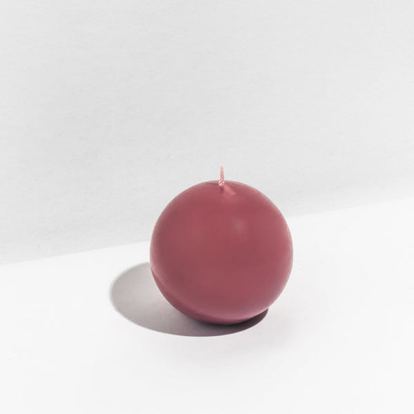 Sphere Candle Large - Burgundy