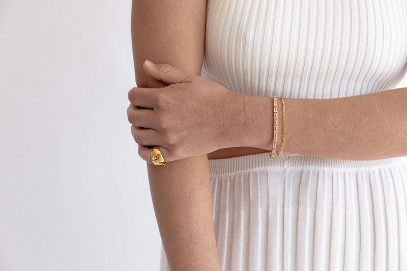 SHOP - FLASH - curb chain bracelet - gold