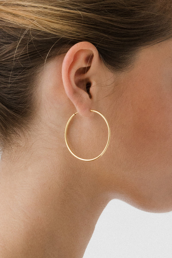 SHOP - FLASH - mondo large hoops - 14k vermeil