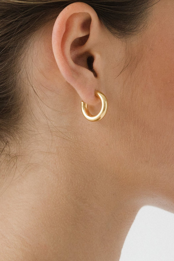 SHOP - FLASH JEWELLERY - goldie tube hoops - 14k vermeil