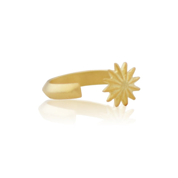 open flower ring - gold