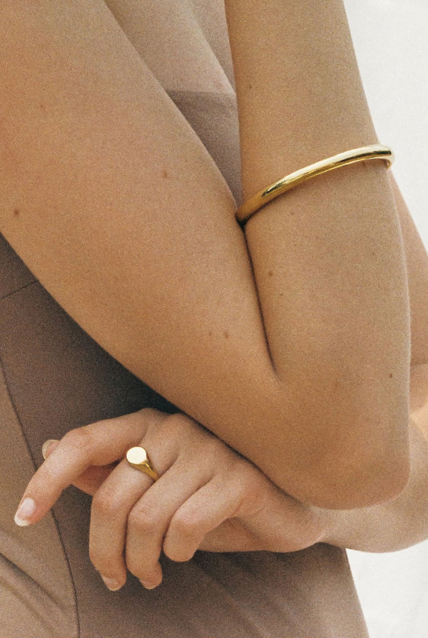 SHOP - FLASH JEWELLERY - classic signet ring - 14k vermeil