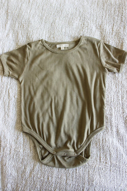 SHOP - LITTLE REEF - everyday bodysuit - olive