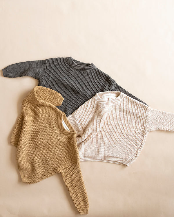 knit jumper - cream