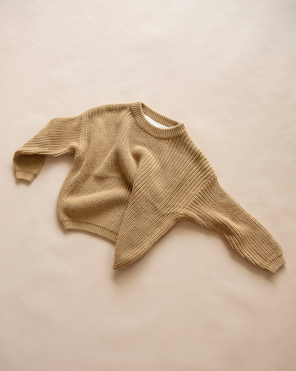 knit jumper - mustard
