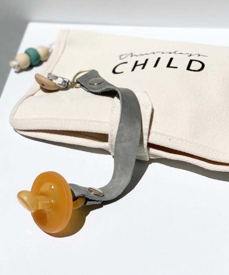 leather pacifier clips