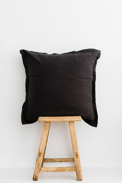 SHOP - LINEN SOCIAL - euro pillowcase - charcoal (set of 2)