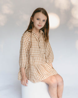 SHOP - THE LULLABY CLUB - avalon kids dress - caramel gingham