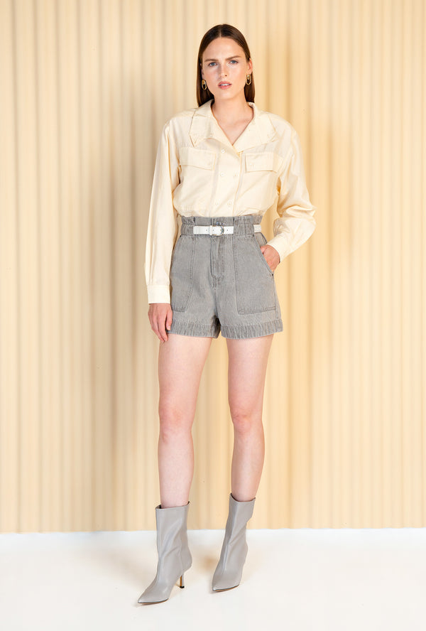 SHOP - MAGALI PASCAL - Sisley Shorts - Light Grey