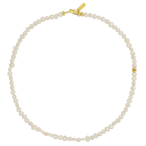 SHOP - Brie Leon - Mini Pearl Choker - Gold
