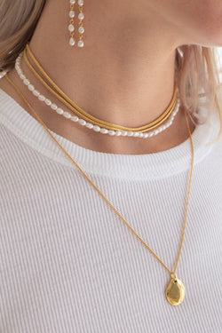 très necklace - 18k gold plated brass
