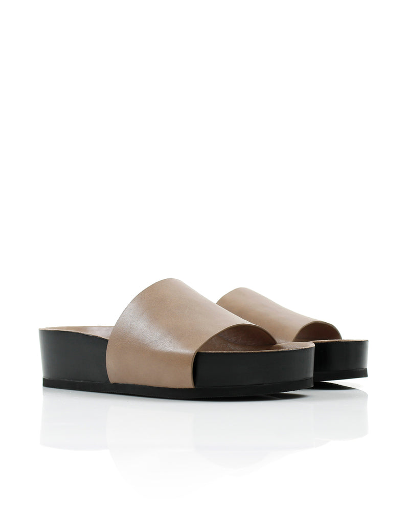 SHOP - LA TRIBE - platform slide - taupe
