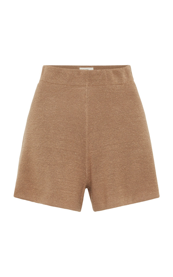 SHOP - ST AGNI - spencer shorts - almond