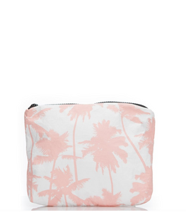 le mu - small pouch - guava coco palm trees