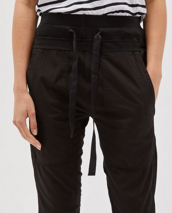 utility cotton jersey pant - black