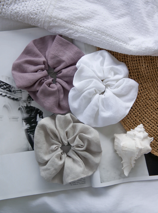 little fisher co - linen scrunchie