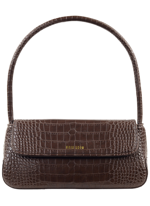 The Camille Bag - Chocolate Matte Croc