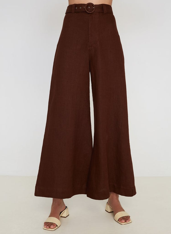 SHOP - FAITHFULL THE BRAND - rose wide leg pants - plain almond