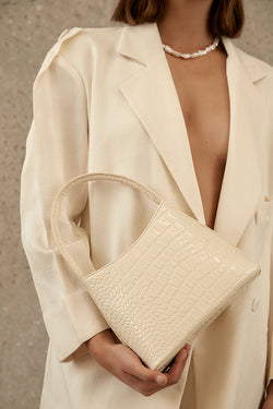 SHOP - BRIE LEON - chloe bag - bone oily croc