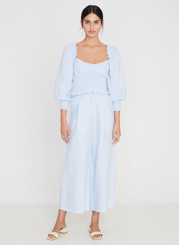SHOP - FAITHFULL THE BRAND - lena wide leg pants - cornflower blue