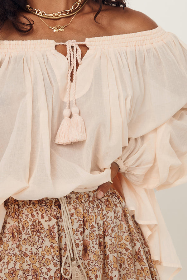 honey blouse - peach