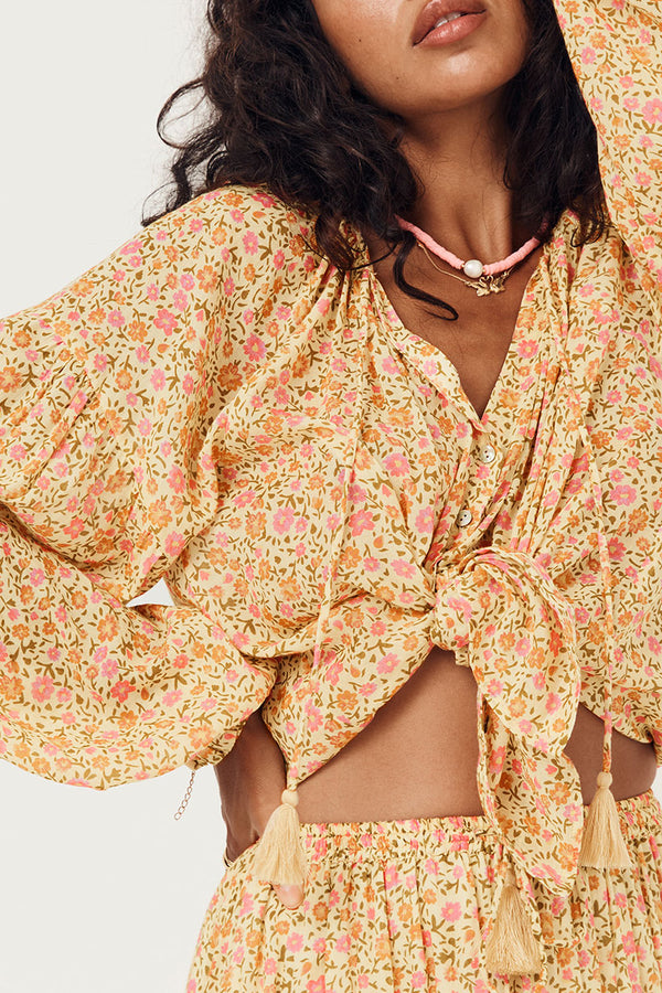 rae blouse - daisy yellow