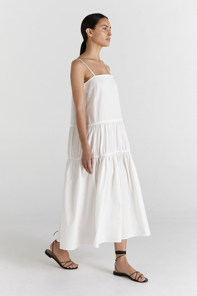 SHOP - MARLE - vanessa dress - chalk