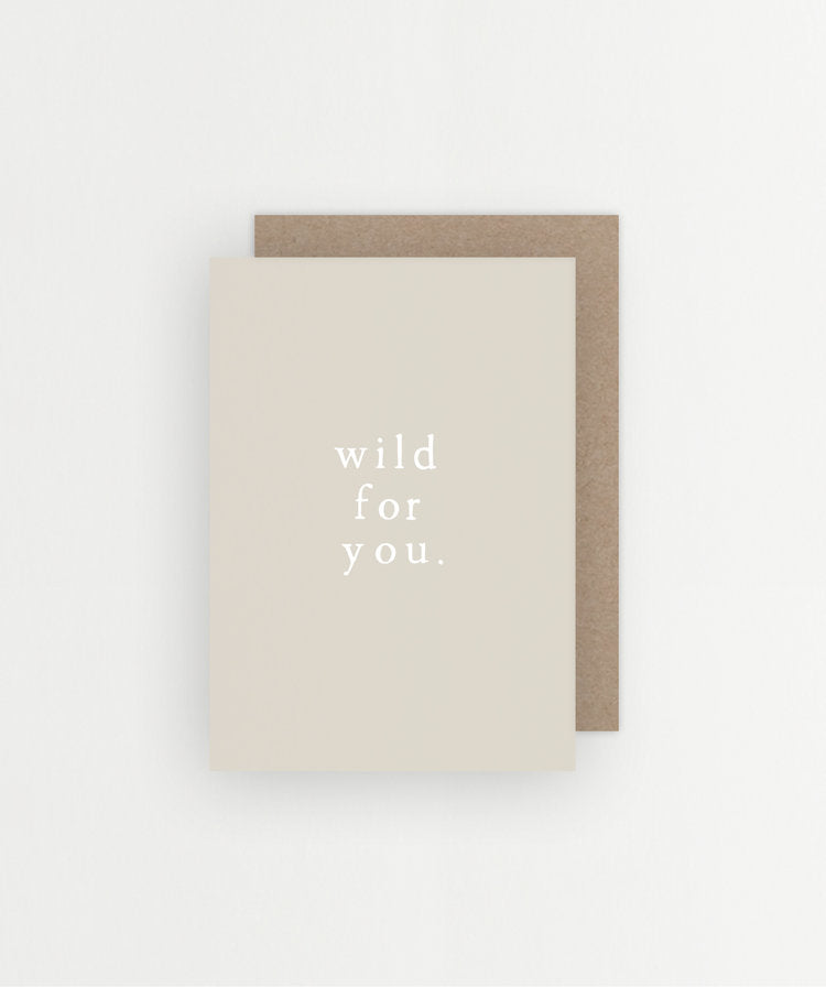 sunday lane - wild for you card