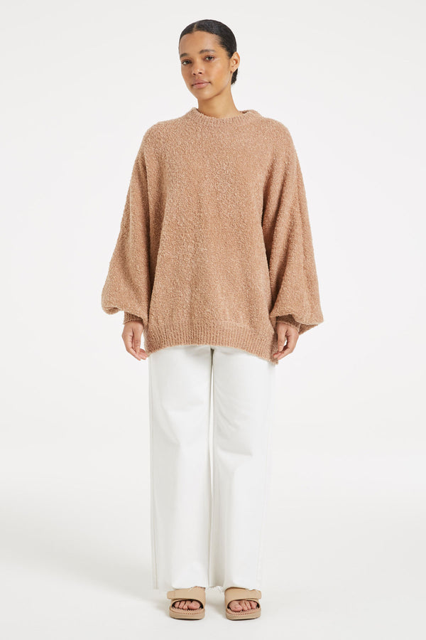 SHOP - ZULU & ZEPHYR - Soothing Knit Jumper - Chestnut