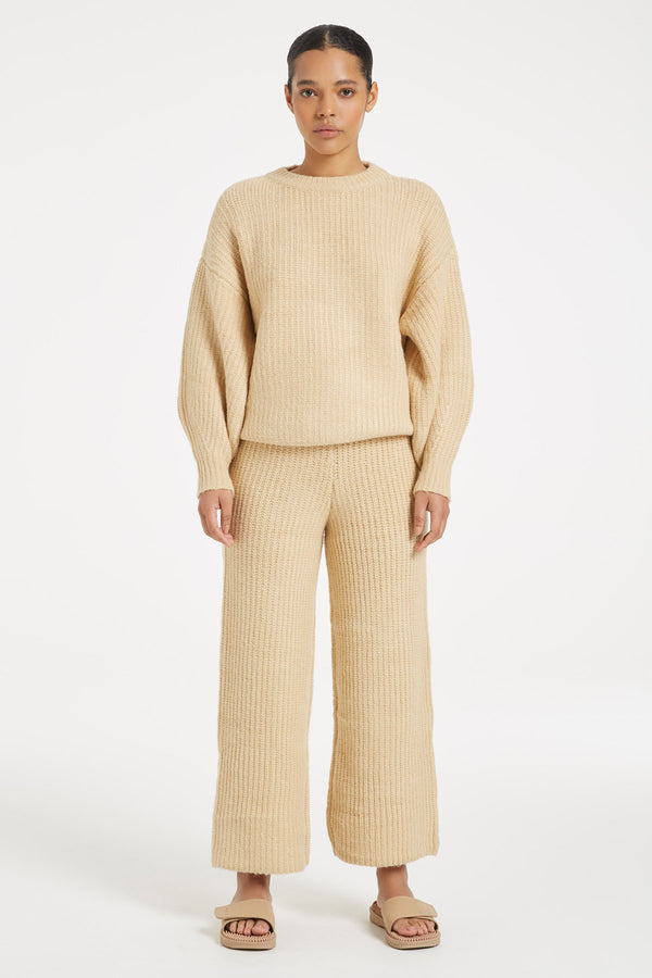 SHOP - ZULU & ZEPHYR - Rest Knit Jumper - Tan