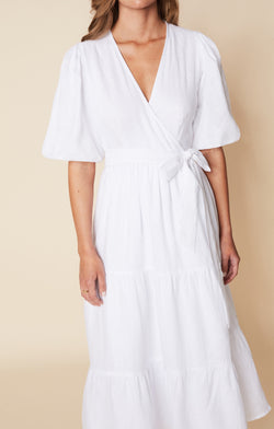 SHOP - FAITHFULL - Edee Wrap Dress - Plain White