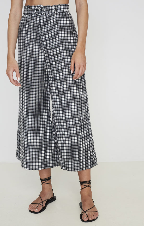 SHOP - FAITHFULL - lissandra wide leg pants - emelinah check