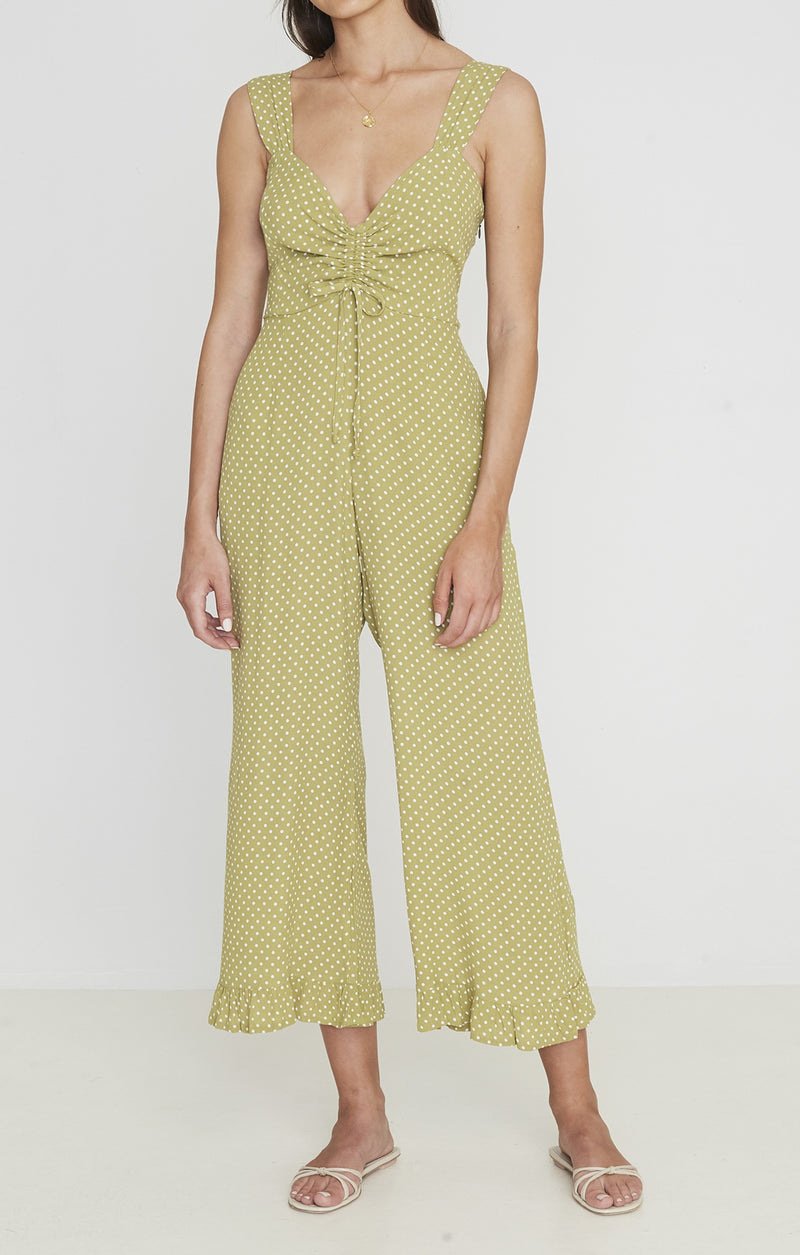 SHOP - FAITHFULL - zuri jumpsuit - belmond dot print